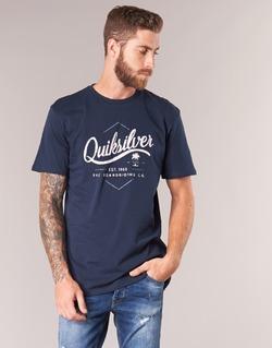 Textiel Heren T-shirts korte mouwen Quiksilver CLATESEATALES Marine