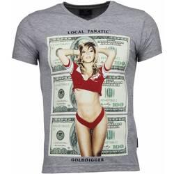 Textiel Heren T-shirts korte mouwen Local Fanatic Golddigger Dollar - T-shirt 35