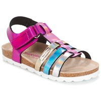 Schoenen Meisjes Sandalen / Open schoenen Les Tropéziennes par M Belarbi POLINA Roze / Blauw / Zilver