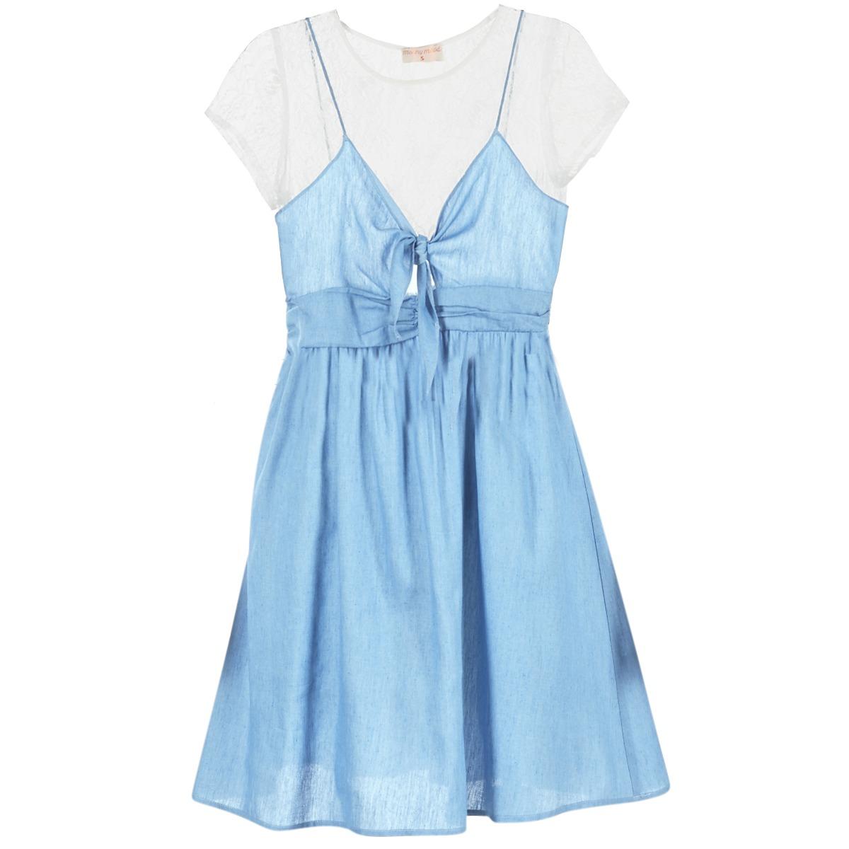 Moony Mood korte jurk glam blauw