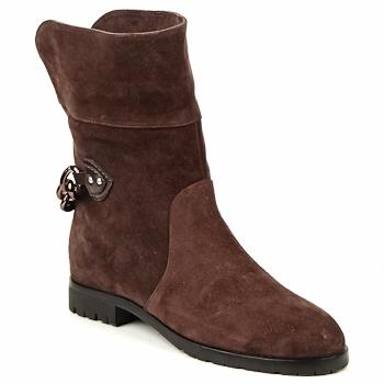 Schoenen Dames Laarzen Marc Jacobs CHAIN BOOTS Bruin