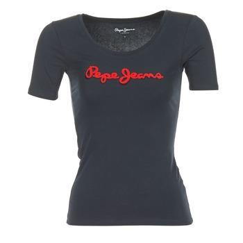 Textiel Dames T-shirts korte mouwen Pepe jeans MARIA Zwart