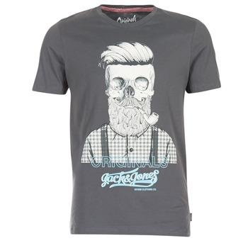 Textiel Heren T-shirts korte mouwen Jack & Jones CRIPTIC ORIGINALS Grijs