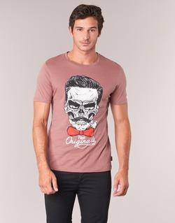 Textiel Heren T-shirts korte mouwen Jack & Jones CRIPTIC ORIGINALS Roze