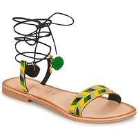 Schoenen Dames Sandalen / Open schoenen Lola Espeleta EDWINA Groen / Geel / Zwart