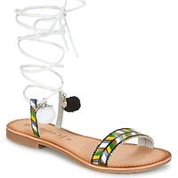 Schoenen Dames Sandalen / Open schoenen Lola Espeleta EDWINA Groen / Zilver