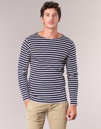 Textiel Heren T-shirts met lange mouwen Armor Lux GELGA Marine / Wit