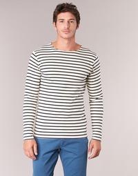 Textiel Heren T-shirts met lange mouwen Armor Lux GELGA Wit / Marine