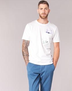 Textiel Heren T-shirts korte mouwen Jack & Jones CHECK ORIGINALS Wit