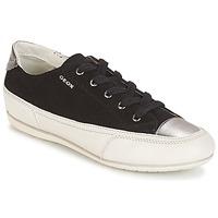 Schoenen Dames Lage sneakers Geox D N.MOENA D - SCAM.STA+VIT.CER Zwart