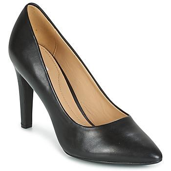 Schoenen Dames pumps Geox D CAROLINE C - NAPPA Zwart