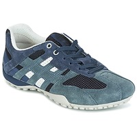 Schoenen Dames Lage sneakers Geox U SNAKE K - SCAM.+MESH Blauw