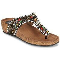 Schoenen Dames Sandalen / Open schoenen Metamorf'Ose ZABUSTE Zwart / Multi