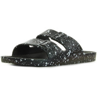Schoenen Leren slippers Moses Freedom Slippers Black Splatter