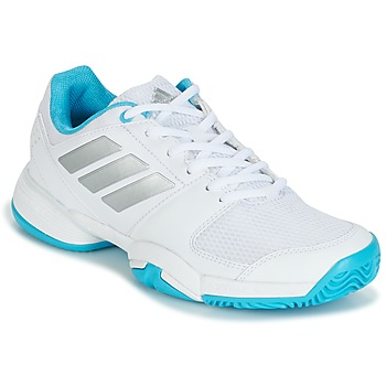 Schoenen Running / trail adidas Performance Barricade Club xJ Wit / Blauw