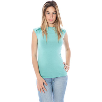 Textiel Dames Tops / Blousjes Nancy N. A28002 Q BLUE A1