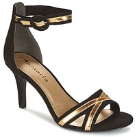 Schoenen Dames Sandalen / Open schoenen Tamaris  Zwart / Goud