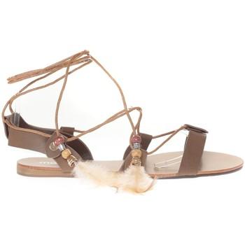 Schoenen Dames Sandalen / Open schoenen Vera & Lucy Sandale  Taupe attache corde SP7085-TP Bruin