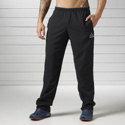 Textiel Heren Trainingsbroeken Reebok Sport Workout Ready Geweven Broek Zwart