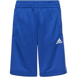 Textiel Jongens Korte broeken / Bermuda's adidas Performance Essentials 3-Stripes Short Blauw / Wit