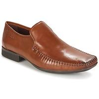 Schoenen Heren Mocassins Clarks Ferro Step Tan / Leer