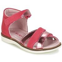 Schoenen Meisjes Sandalen / Open schoenen Kickers GIGI Fushia / Roze / Metaal