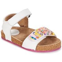 Schoenen Meisjes Sandalen / Open schoenen Kickers NAISSA Wit