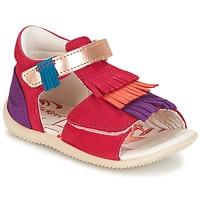 Schoenen Meisjes Sandalen / Open schoenen Kickers BIHILANA Fushia / Oranje / Violet