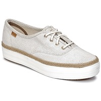Schoenen Dames Lage sneakers Keds TRIPLE DALMATA DOT LEATHER Creme