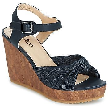 Schoenen Dames Sandalen / Open schoenen S.Oliver  Denim / Comb