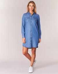 Textiel Dames Korte jurken Yurban IHEBELLA Blauw