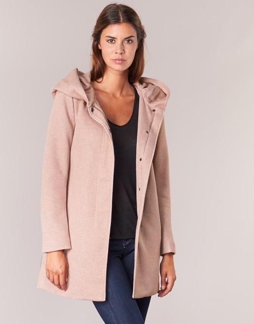 Textiel Dames Mantel jassen Only SEDONA Roze