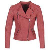 Textiel Dames Leren jas / kunstleren jas Only AVA Rood