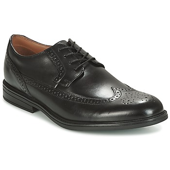 Schoenen Heren Derby Clarks Black Leather Zwart