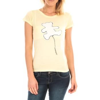 Textiel Dames T-shirts korte mouwen LuluCastagnette T-Shirt Pics Printe Ours Jaune Geel
