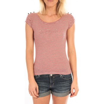 Textiel Dames T-shirts korte mouwen LuluCastagnette T-Shirt Jeny Rayé Rouge Rood