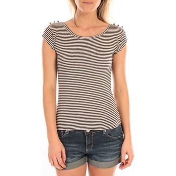 Textiel Dames T-shirts korte mouwen LuluCastagnette T-Shirt Jeny Rayé Bleu Blauw