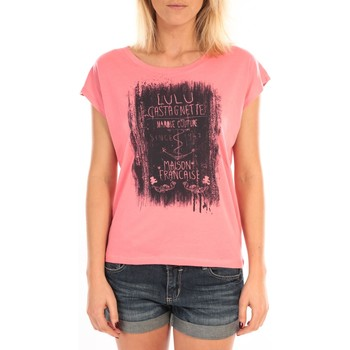 Textiel Dames Tops / Blousjes LuluCastagnette Top Luna Print Rose Roze