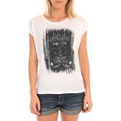 Textiel Dames Tops / Blousjes LuluCastagnette Top Luna Print Blanc Wit