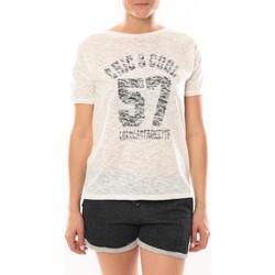 Textiel Dames T-shirts korte mouwen LuluCastagnette T-shirt Cool Blanc Wit