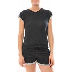 Textiel Dames Tops / Blousjes LuluCastagnette Top Manches Courtes Lune Marine Blauw