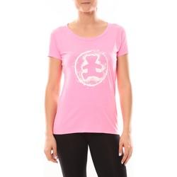 Textiel Dames T-shirts korte mouwen LuluCastagnette T-shirt Happy Rose Roze