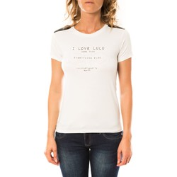 Textiel Dames T-shirts korte mouwen LuluCastagnette T-shirt Funk Blanc Wit