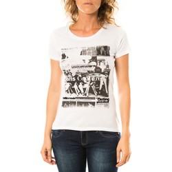 Textiel Dames T-shirts korte mouwen LuluCastagnette T-shirt Mag Blanc Wit