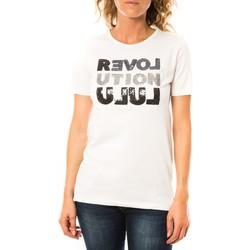Textiel Dames T-shirts korte mouwen LuluCastagnette T-shirt Sequy Blanc Wit