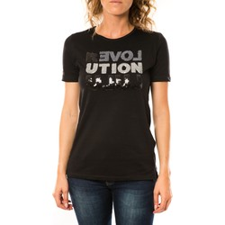 Textiel Dames T-shirts korte mouwen LuluCastagnette T-shirt Sequy Noir Zwart
