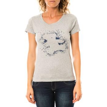 Textiel Dames T-shirts korte mouwen LuluCastagnette T-shirt Troupe Gris Grijs