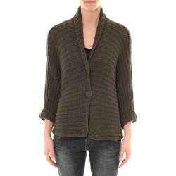 Textiel Dames Vesten / Cardigans Barcelona Moda Gilet Court 2 Boutons Kaki Groen