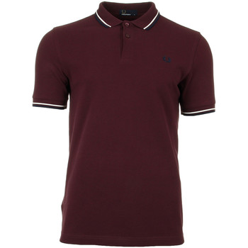Textiel Heren Polo's korte mouwen Fred Perry Twin Tipped  Shirt rood