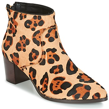 Schoenen Dames Enkellaarzen Bocage MELODY Luipaard